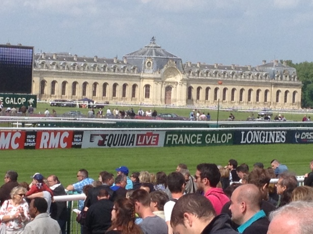 The Grand Ecurie at Chantilly, viewed from near the finish line on French Derby Day