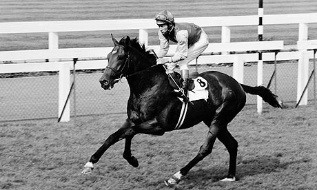 Nijinsky and Lester Piggott claiming a historic Triple Crown triumph in the 1970 St Leger